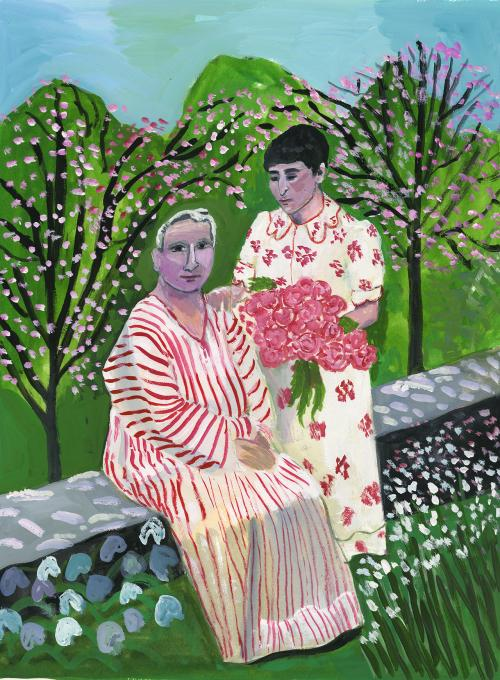 Gertrude and Alice in the garden, 2019