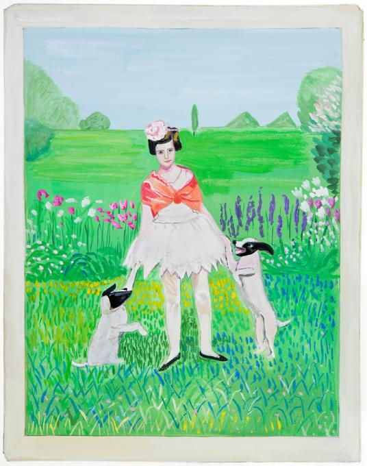 Girl with Dogs, 2013
