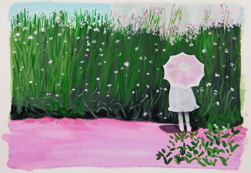 Girl with Umbrella, 2013