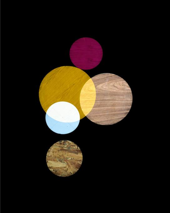 Pink, Yellow, White Circles, 2014 pigment print on Hahnemühle cotton paper  20 x 16