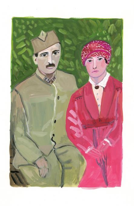 Andre Derain and Alice Princet, 2019,  6 1/2 x 8 1/2 inches, image 15 x 11 inches, sheet
