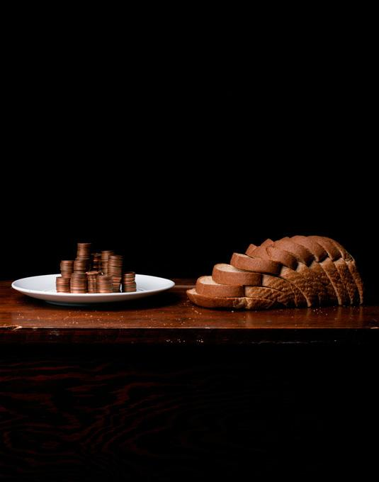 Still life with Bread & Pennies, 2010