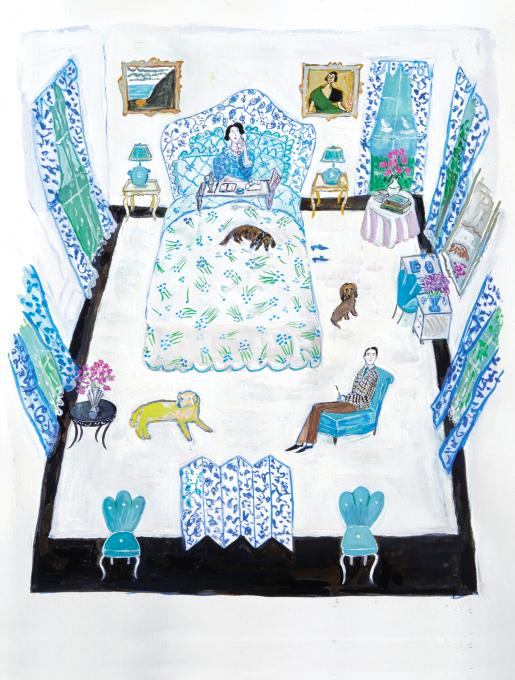 Marie Harriman's Bedroom, Sands Point, 2019