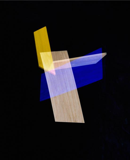 Blue, Yellow Intersection, 2014 pigment print 37 x 30