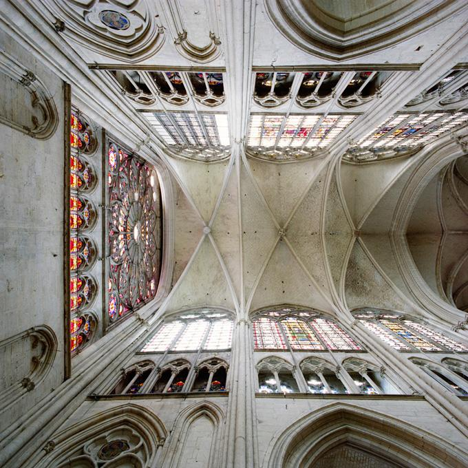#62304, North, Troyes Cathedral, Troyes, France, 2008 pigment print 28