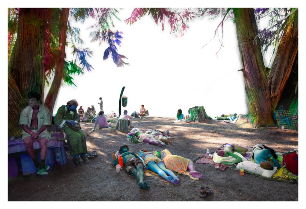 Chilling at the Void, 2015 chromogenic print 28 x 42