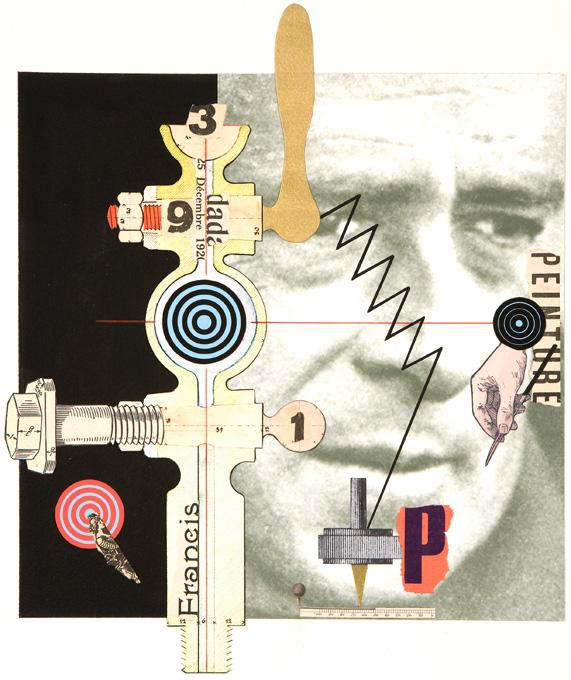 Picabia, 2008 collage and acrylic 15 x 15