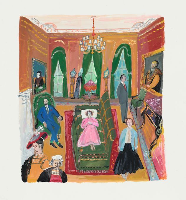 Rembrandt and Company, 2019 gouache on paper  13 x 11 inches, sheet  10 x 8 1/2 inches, image
