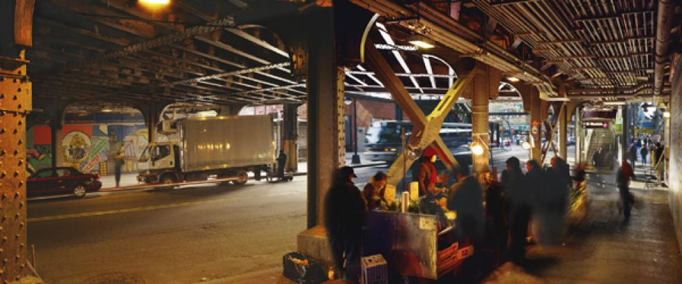 Fruit Vendor, Roosevelt Ave, 2004