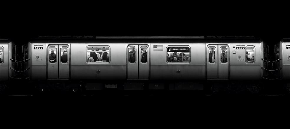 #7283, New York Stainless Series, 2010 gelatin silver print 31 1/2 x 70 3/4 inches  Edition 5/6