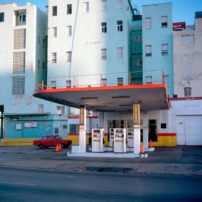 """Gas Station #4, 2006 cibachrome print image 10 x 10"""", 17 x 20"""" framed, edition of 3"""
