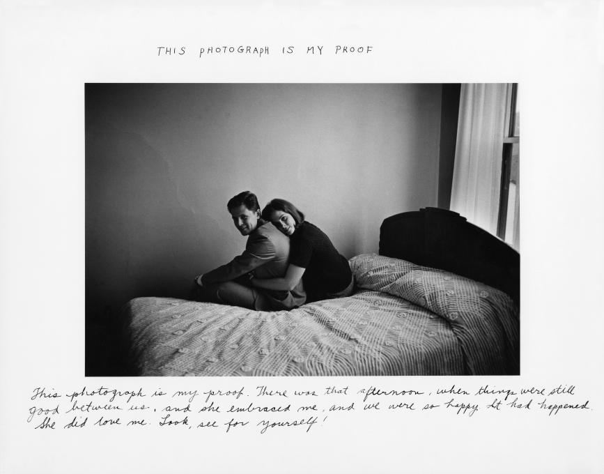 Duane Michals This Photograph is My Proof, 1974 gelatin silver print, 6 3/4 x 10