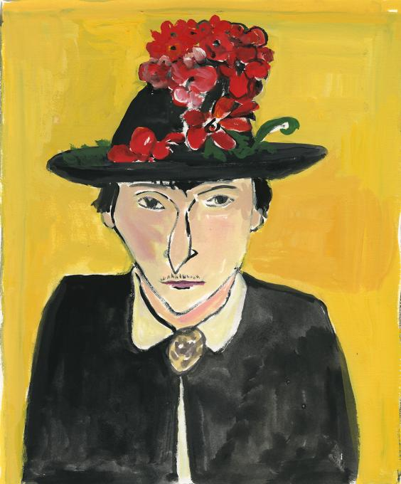 Alice with flower hat, 2019