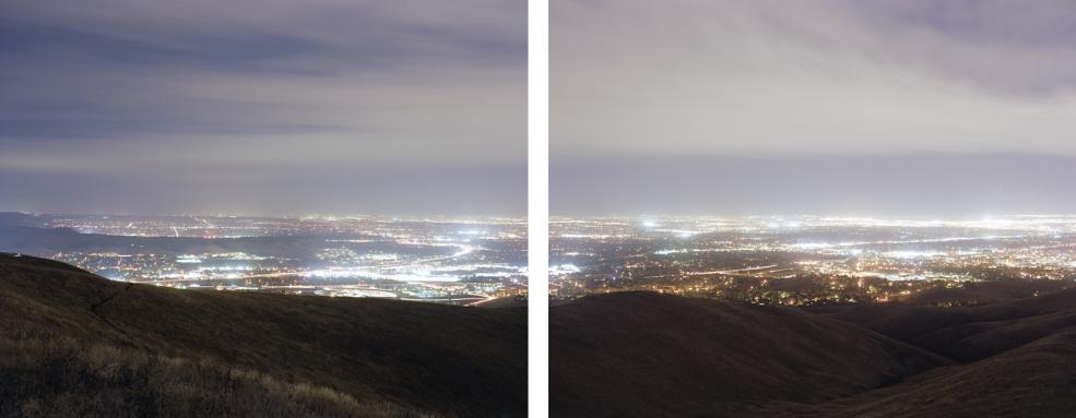 Denver from Green Mountain, 2010 two pigment prints 28 x 35