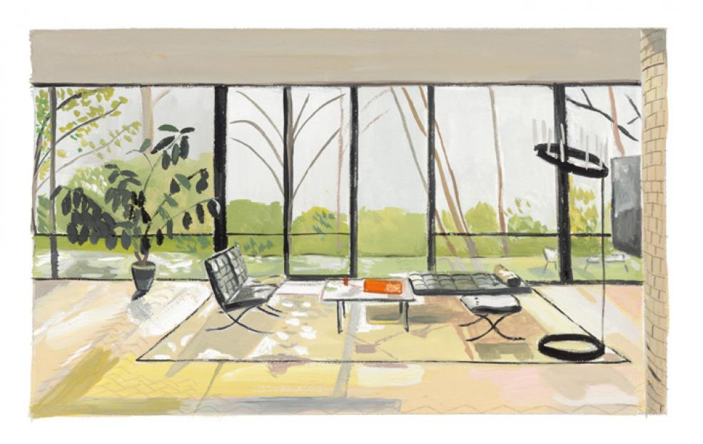 """People Who Live in Glass Houses..., 2004-05 inkjet print 8 ¼ x 13 ¼"""" image, edition of 36"""