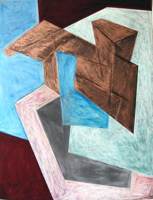 Untitled (B), 1983 wax pastel and pencil on paper 30 x 22